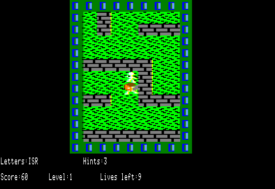 Here's the first level running in double-res.  You've gathered 3 letters already.