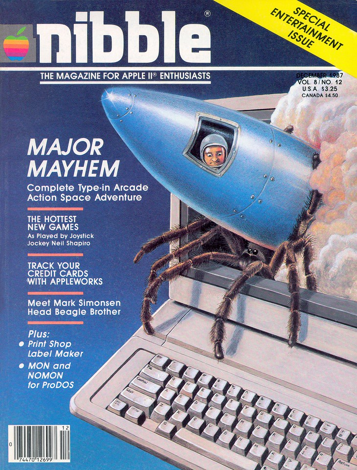 Major Mayhem got the cover of the December 1987 edition!  This was my first cover ever and I was pretty proud of it.
