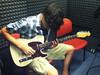 Jordan recording sounds in the studio for NutWarz.