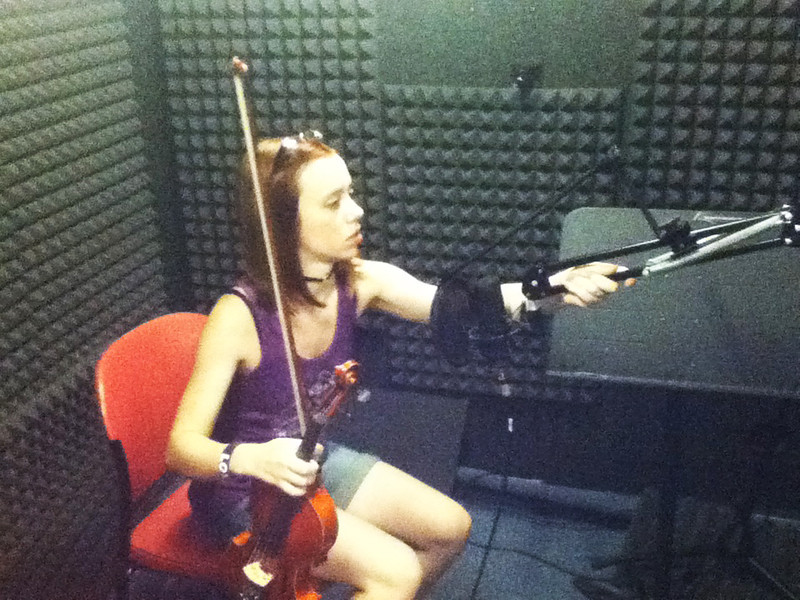 Myself recording sounds in the studio for NutWarz.