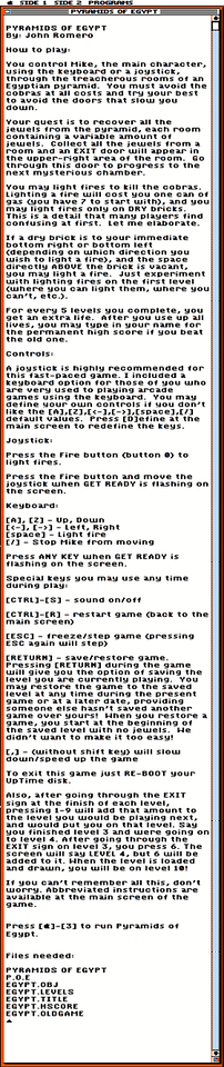 Even though there are already instructions in the game, UpTime liked to keep things consistent so they wrote instructions you could read from their shell program.  I did not write these instructions, heh.