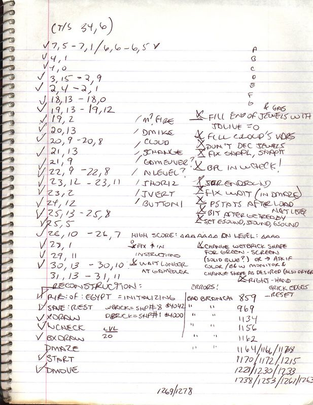 More notes for the re-polishing effort for UpTime.