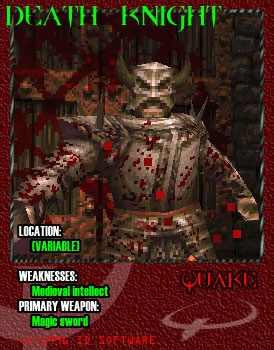 Someone made a bunch of cool Quake cards for each of the enemies in the game.
