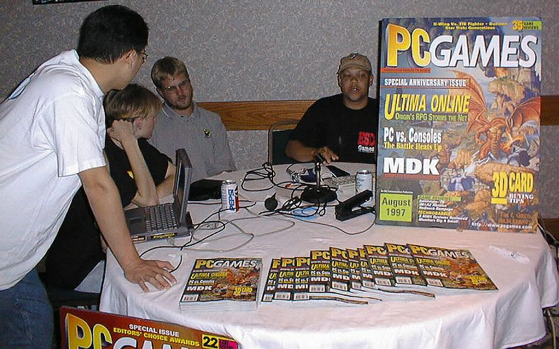 The PC Games Booth.