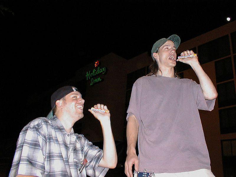 DaKiller and Tanner pop a mentos.