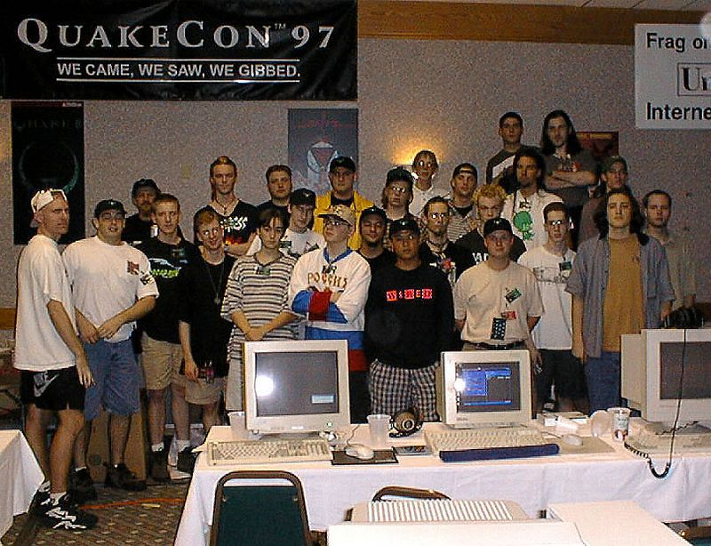 QuakeCon organizers' group photo.