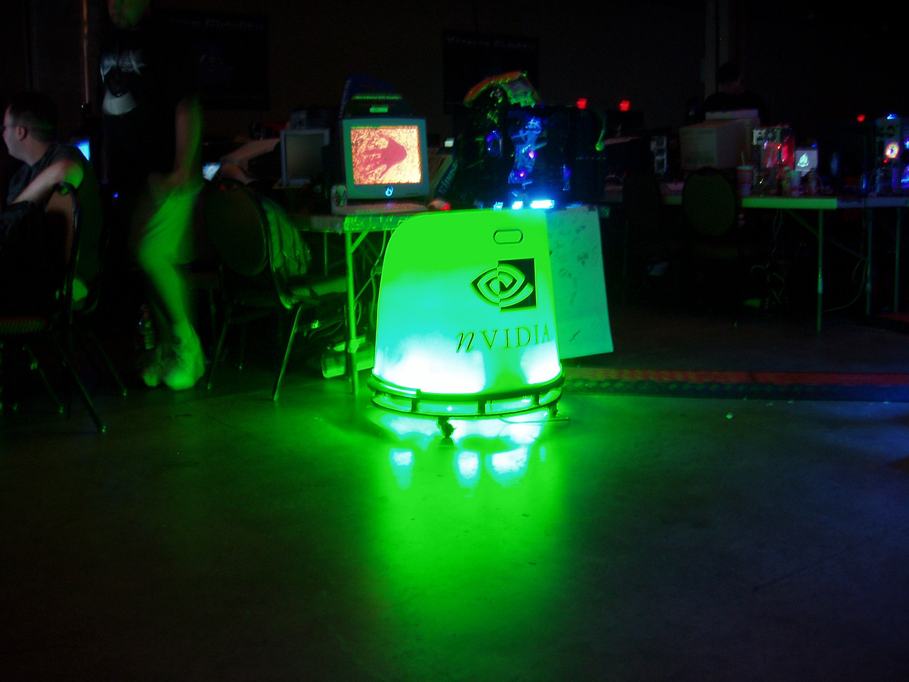 Qcon Day 3 glowing nVidia chair