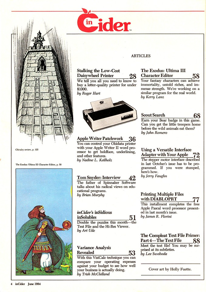 Here's the Table of Contents of the issue.  A quick look at it will reveal just how boring most of the old magazines were to normal people - but geeks like me ate em up! So yeah, my first published game was about a grizzly bear tearing up Boy Scouts and they scream when they're eaten.  Typical.