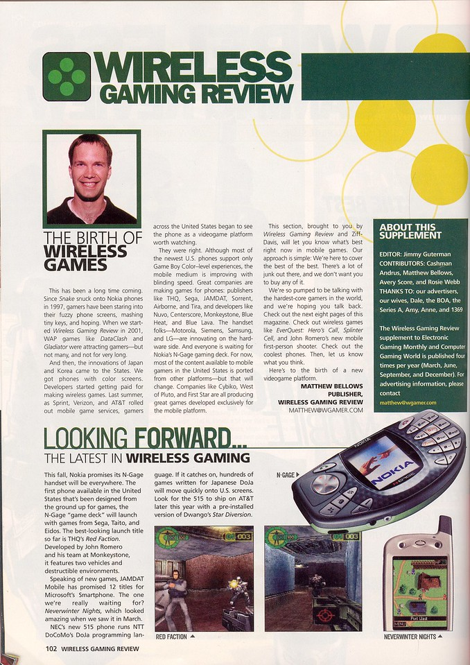 Wireless Gaming Review talks about my N-Gage port of Red Faction, 2003.