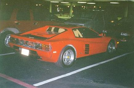 John Carmack's Testarossa parked outside QuakeCon 1996.