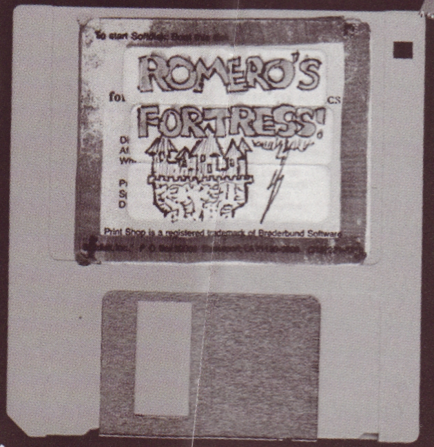 This is a transfer disk circa 1991 from when we were working on various games for Softdisk and were still passing around data without a network.  I had a different disk for each project with little drawings like this on them.  I need to get into my storage to see how many are left.