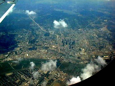 Downtown Dallas from above.