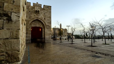 Jaffa Gate leading to the Old City, Jerusalem