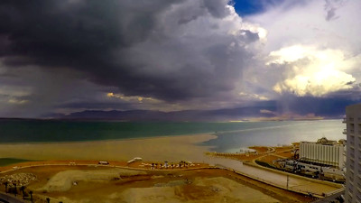 Dead Sea after the rain