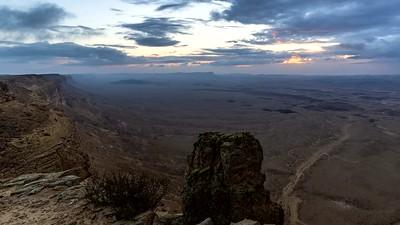 Mitzpe Ramon desert sunset, Negev Israel