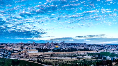 Sunrise over the Old City Jerusalem