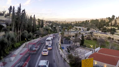 Timelapse of the Old City Jerusalem at twilight
