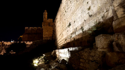 Moon over the Tower of David, Jerusalem