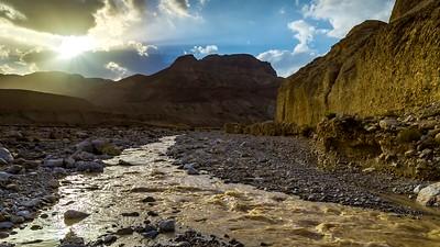 Water streams in the desert
