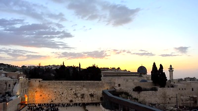 Sunrise over the Western Wall