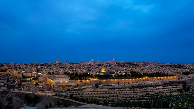 Old City Jerusalem at sunrise