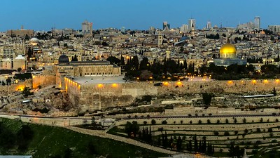 Temple Mount and Jerusalem skyline