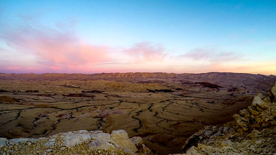 Sunrise at the Great Crater, the Negev Desert