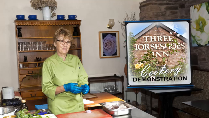 The Three Horseshoes Inn, near Bromyard  Hereford, Cooking Demonstration