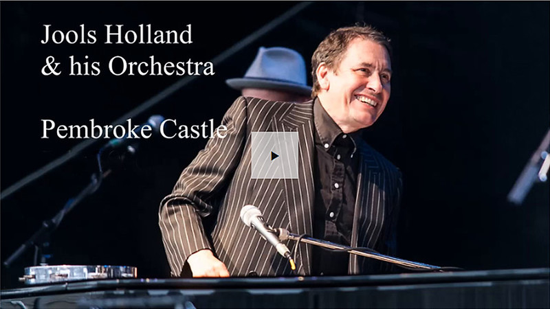 The Jools Holland Orchestra - live at Pembroke Castle, Wales.