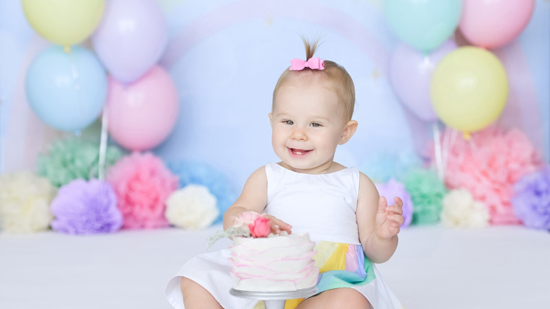 Sonoma's First Birthday Photoshoot BTS