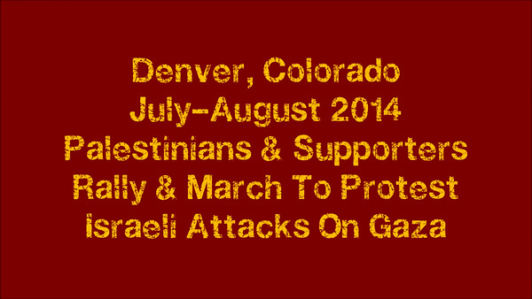 Palestine Protests Denver July-Aug 2014