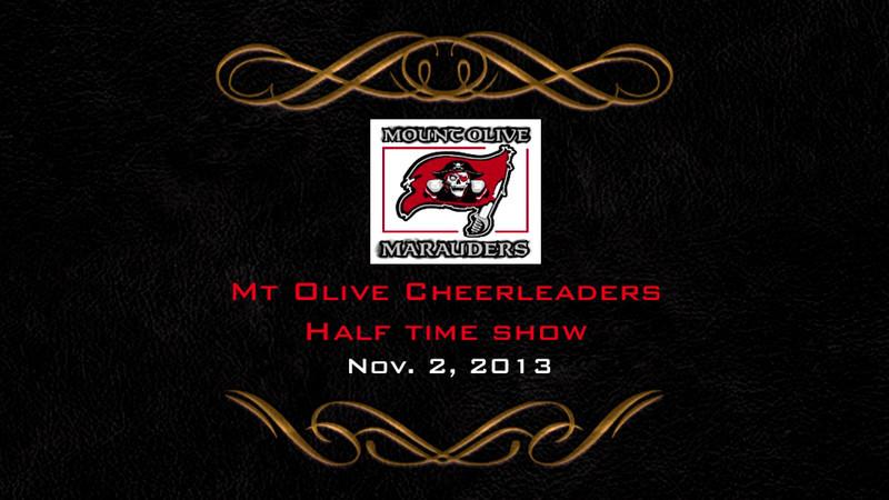 Mt Olive Maurauders cheerleaders - Nov. 2, 2013