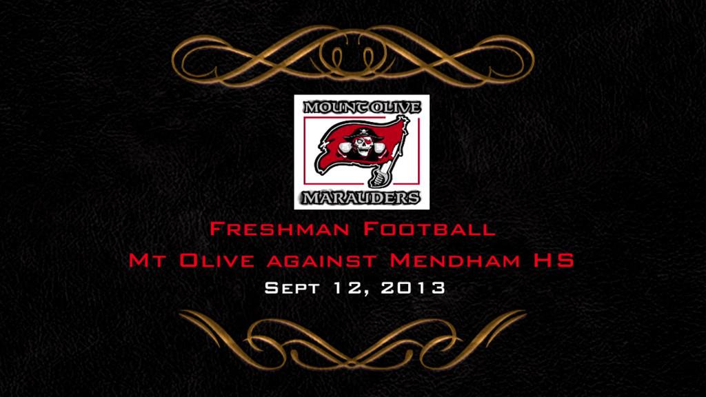 Mt Olive VS Mendham Freshman Football