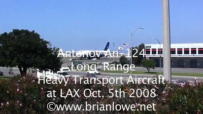 Antonov An-124 Heavy Transport Aircraft at LAX Oct. 5th 2008