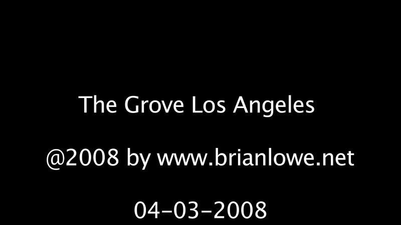 The Grove Los Angeles. Shot with a Canon HV30 video camera, edited in Final Cut Pro.