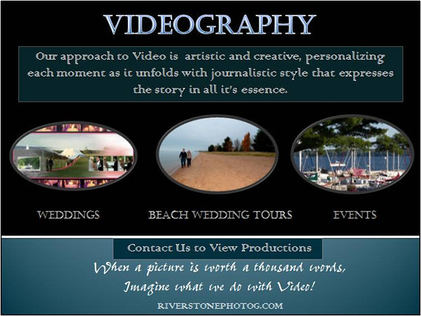 If you Like our Photography, you will Love our Videography !<br /> With a unique eye for beauty & heart that loves to tell a story through creative and expressive capture.<br /> Bringing motion to the memories ! <br /> Either combine Video with Photography or only Video . Accommodating as little or much video coverage as you'd like! To respect our clients privacy, please contact us to view productions.