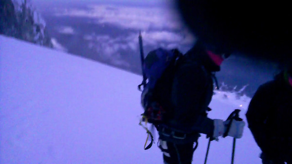 5:00 am 10,200 feet on Mt. Hood Climb to Fight Breast Cancer unedited video