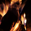 Fire burning in a fireplace