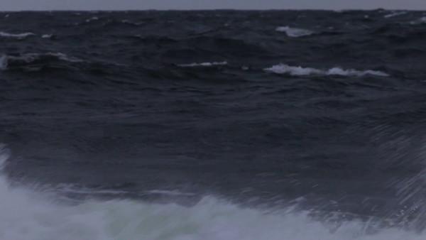 Storm-driven ocean waves.