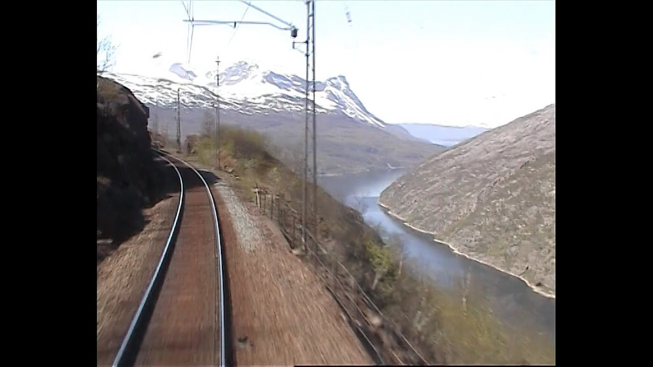 "Music video: Groms Plass - ""Toget"". Cab view  Ofoten Line (41km) in 4:10 min."