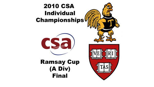 2010 CSA Individuals - Ramsay Cup (Div A) Finals: Laura Gemmell (Harvard) and Pamela Hathway (Trinity)