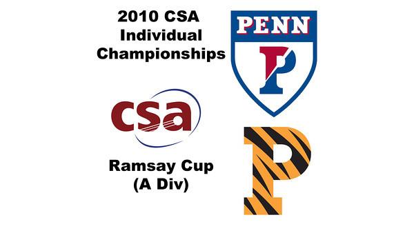 2010 CSA Individuals - Ramsay Cup (A Div) Con Quarters: Neha Kumar (Princeton) and Sydney Scott (Penn)