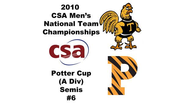 2010 Men's National Team Championships - Potter Cup Semis, #6s: David Pena (Princeton) and Antonio Diaz Glez (Trinity)