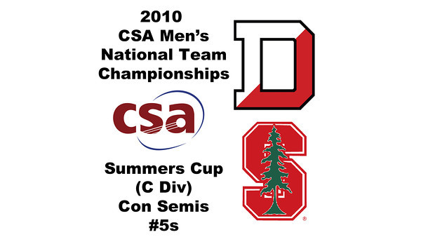 2010 Men's National Team Championships - Summers Cup, #5s: Simon Carr (Denison) and Ananth Sridhar(Stanford)