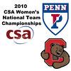 2010 Women's National Team Championships: #1s - Kristen Lange (Penn) and Rebecca Hazell (Cornell)