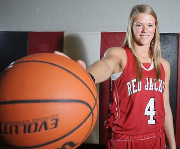 Bailey Hixson of Red Jacket.