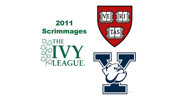2011 Ivy League Scrimmages (Women): #1s Laura Gemmell (Harvard) and Millie Tomlinson (Yale)