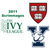 2011 Ivy League Scrimmages (Women): #3s Haley Mendez (Harvard) and Rhetta Nadas (Yale)