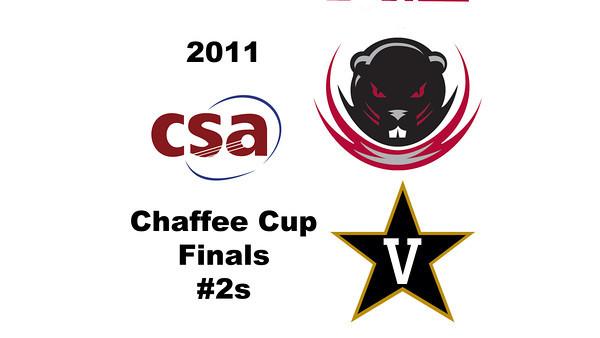 2011 Chaffee Cup - #2s: Michael Zomnir (MIT) and Tyler Kopp (Vanderbilt)