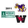 2011 NESCAC Squash Championships: Courtney Bogle (Williams) and Mary Foster (Wesleyan)